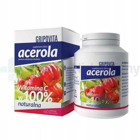 Acerola Gripovita do ssania 60 tabletek