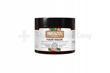 BIOVAX BOTANIC Maska do włosów ocet jabłkowy & rozmaryn 250ml