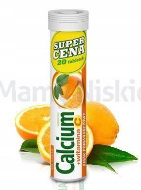 Calcium + Vit.C pomarańczowy 20 tabletek musujących