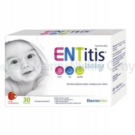 ENTitis Baby smak truskawkowy 30 saszetek