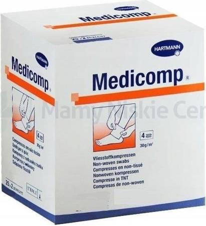Kompresy MEDICOMP jałowe 7,5 x 7,5 cm 2 sztuki