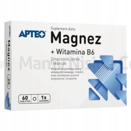 Magnez + Wit.B6 APTEO  60 tabletek