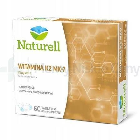 NATURELL Witamina K2 MK-7 60 tabletek do ssania