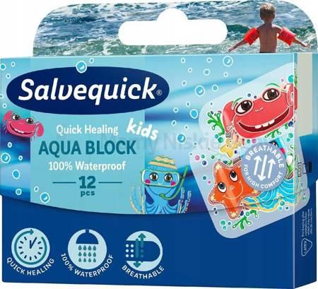 Plaster Salvequick Aqua Block Kids 12 sztuk