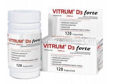 Vitrum D3 Forte 2000j.m. 120 kapsułek